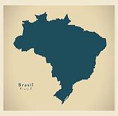Modern Map - Brazil BR