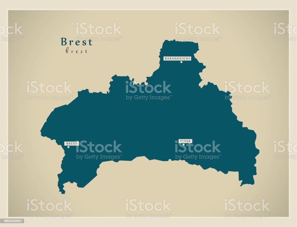 Modern Map - Brest BY
