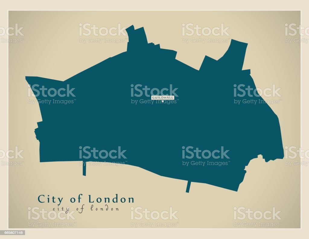 Map Of City Of London Uk.Modern Map City Of London Borough Greater London Uk England Stock
