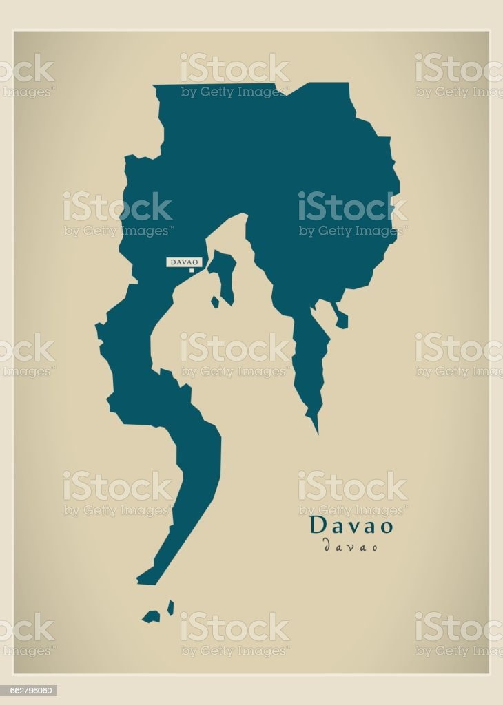 Modern Map Davao Ph Stock Vector Art More Images of Cartography