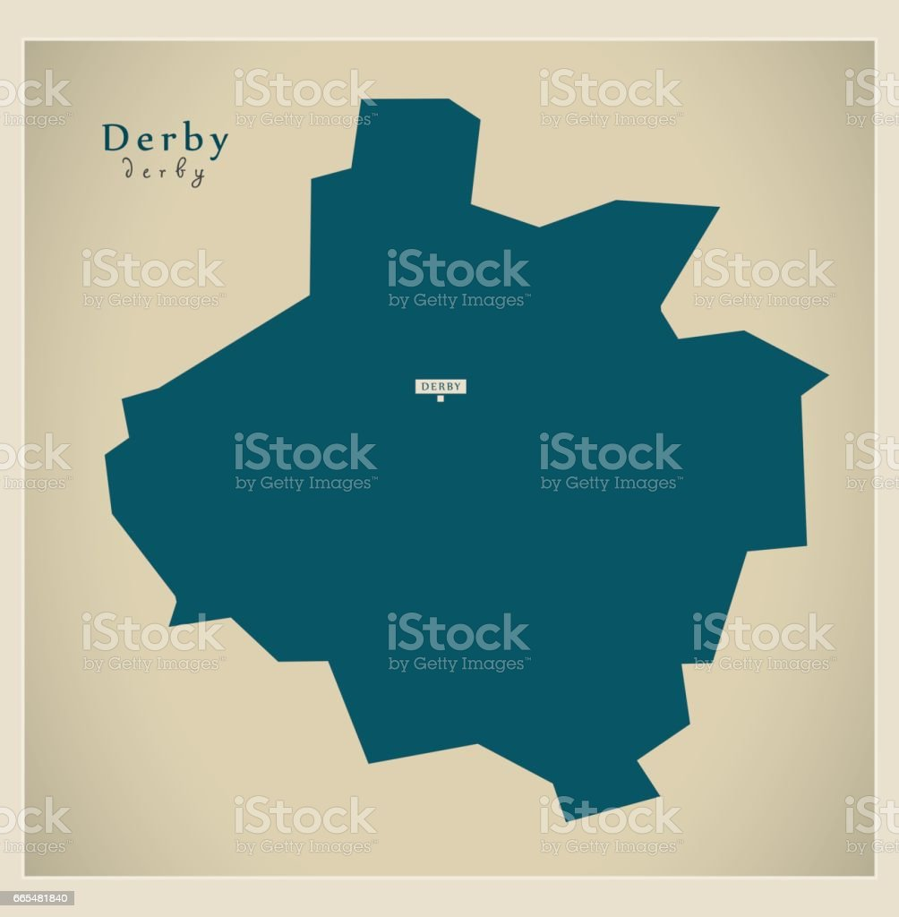 Carte Angleterre Derby.Carte Moderne Autorite Unitaire A Derby En Angleterre