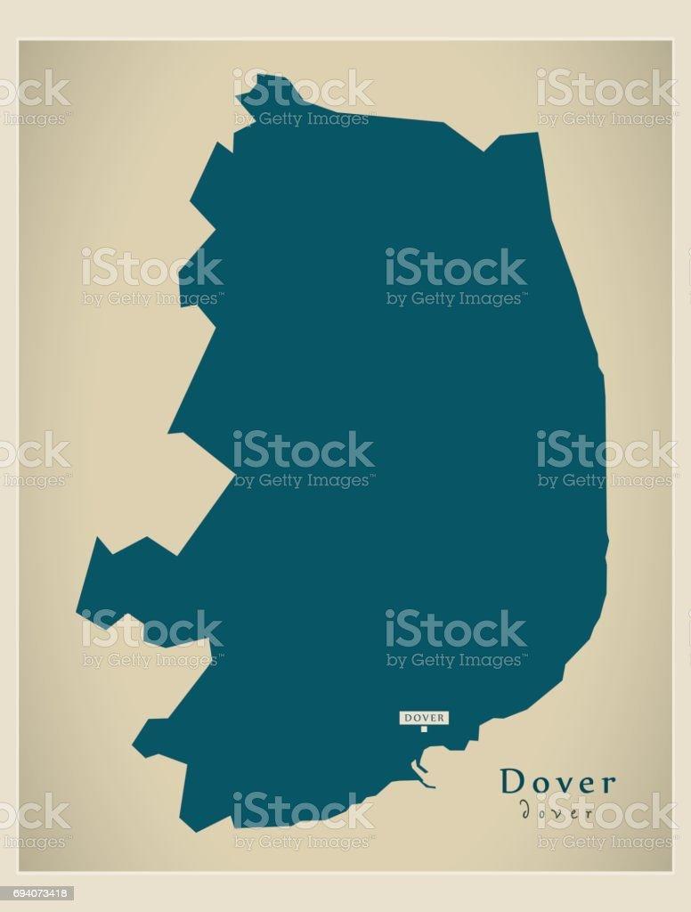 Carte Touristique Kent Angleterre.Carte Moderne Illustration De Quartier Uk Douvres Cliparts
