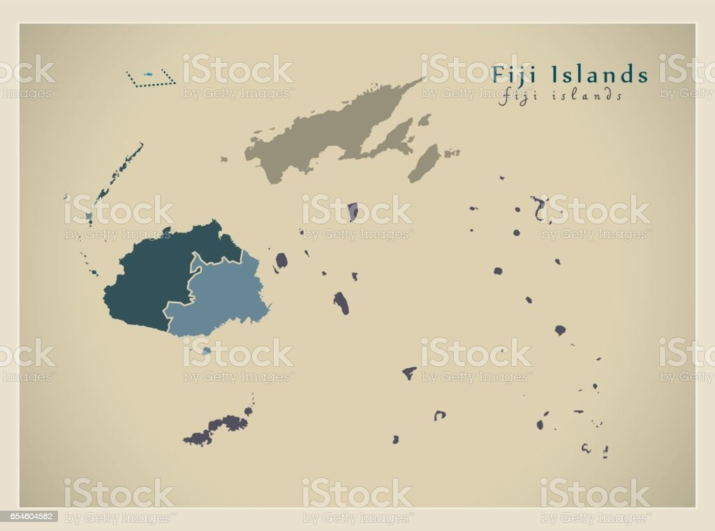 Modern map fiji islands with divisions fj stock vector art more modern map fiji islands with divisions fj royalty free modern map fiji islands with gumiabroncs Gallery