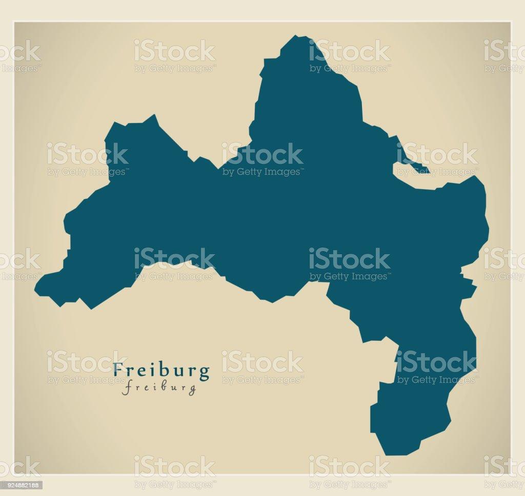 Modern Map Freiburg City Of Germany De Stock Vector Art More