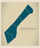 Modern Map - Gaza Strip territories PS