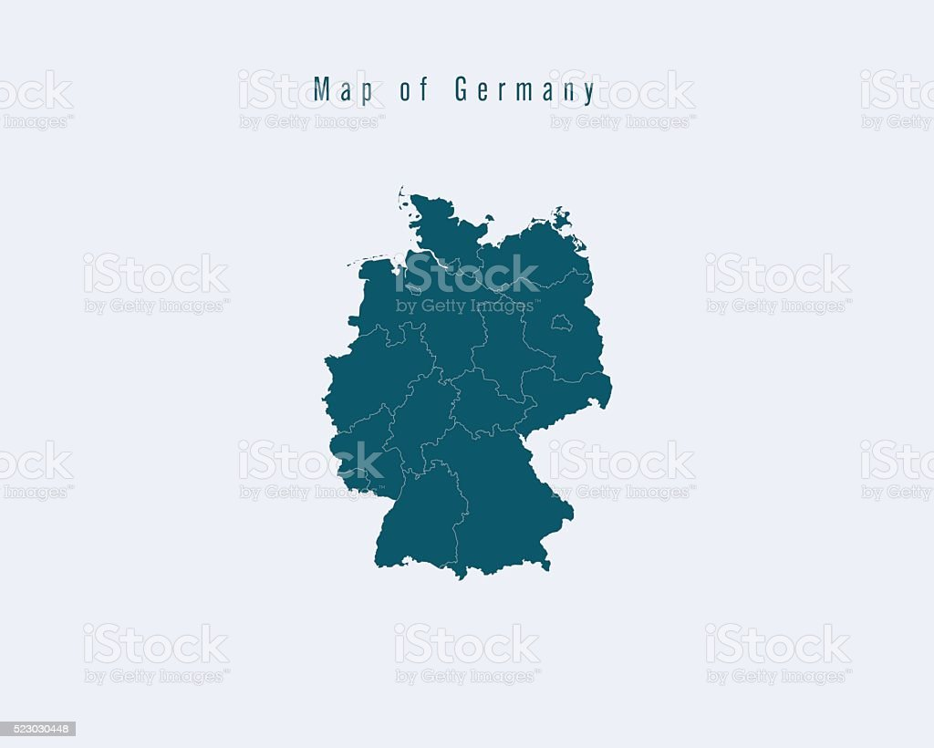 Map Of Germany With States.Modern Map Germany With Federal States Stock Vector Art More