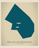 Modern Map - Ghazzah ash-Shamaliyah PS