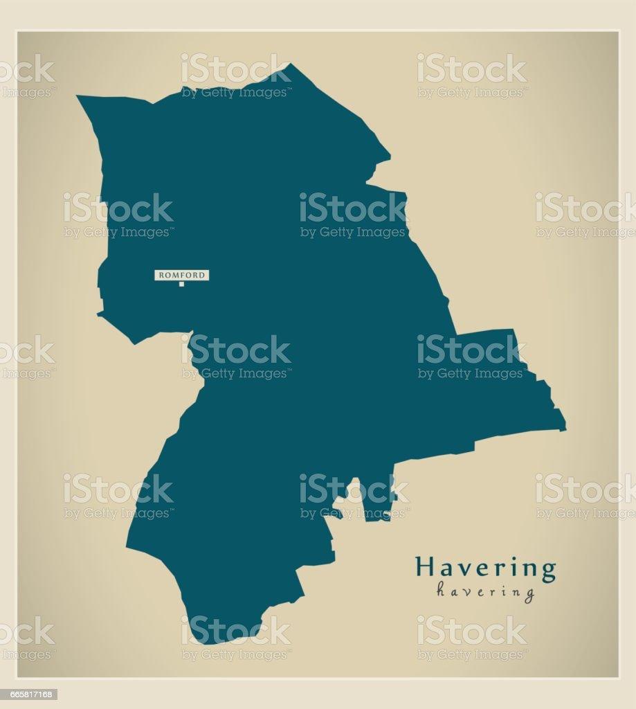 modern map havering borough greater london uk england royalty free modern map havering borough