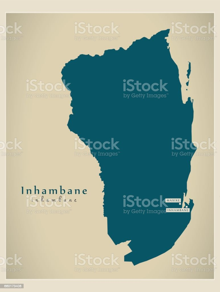 Modern Map Inhambane Mz stock vector art 660173408 iStock