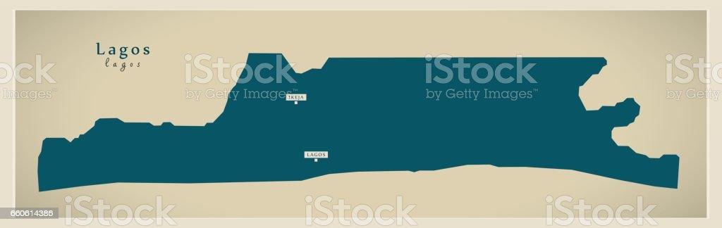 Modern Map - Lagos NG royalty-free modern map lagos ng stock vector art & more images of cartography
