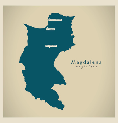 Modern Map - Magdalena CO