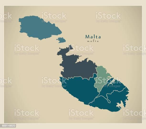 Malta Map Vector Art & Graphics   freevector.com