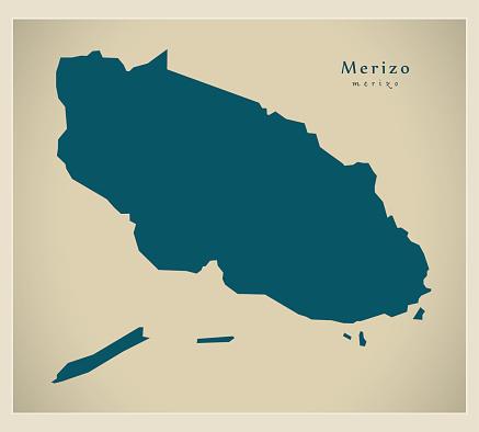 Modern Map - Merizo GU