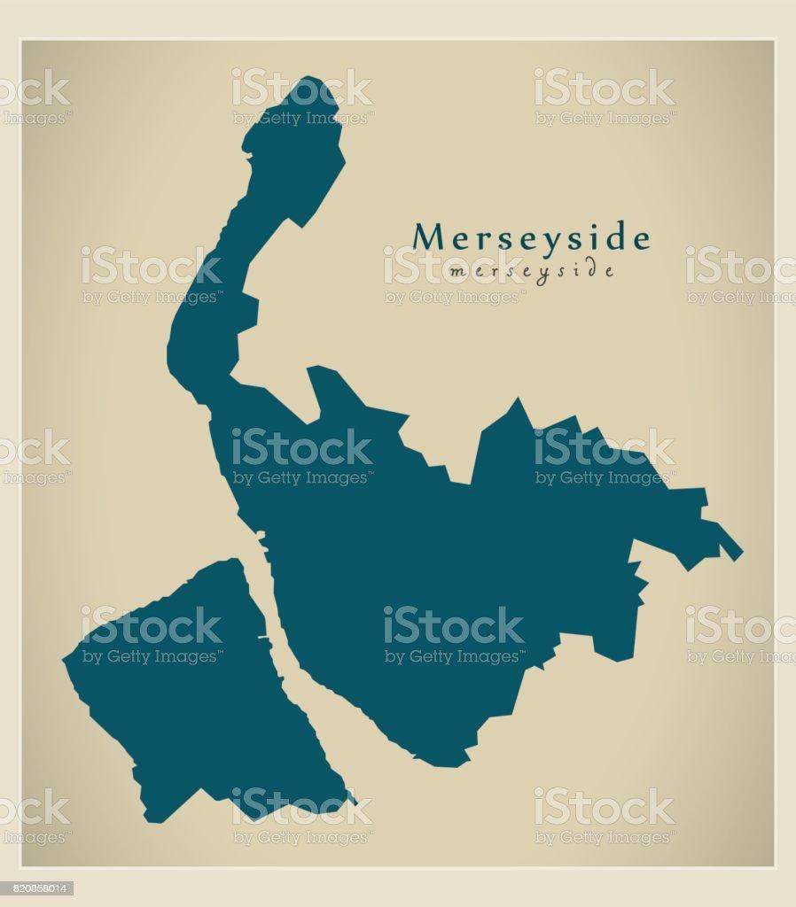 現代の地図 英国イングランド マ...