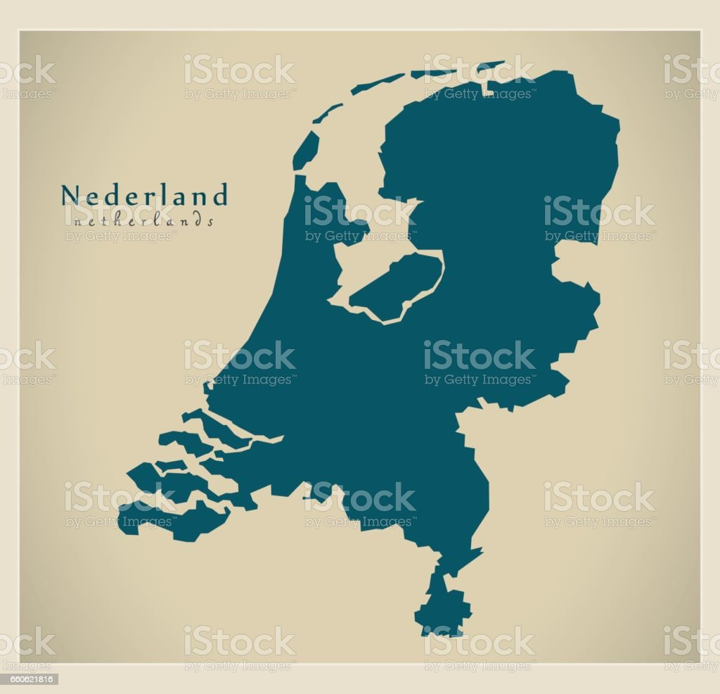 Modern Map - Nehterlands NL royalty-free modern map nehterlands nl stock vector art & more images of cartography