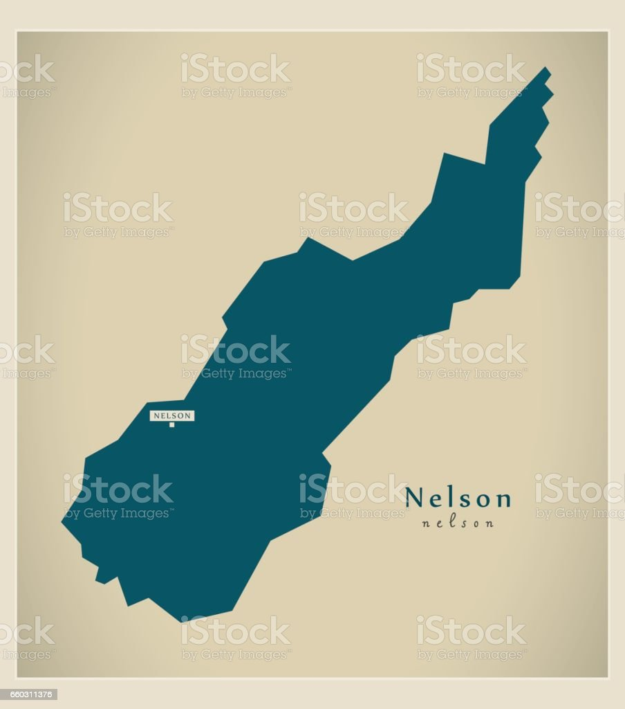 Map Nelson New Zealand.Modern Map Nelson Nz Stock Illustration Download Image Now Istock