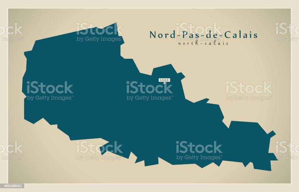 Map Of France Calais.Modern Map Nord Pas De Calais Fr France Stock Vector Art More