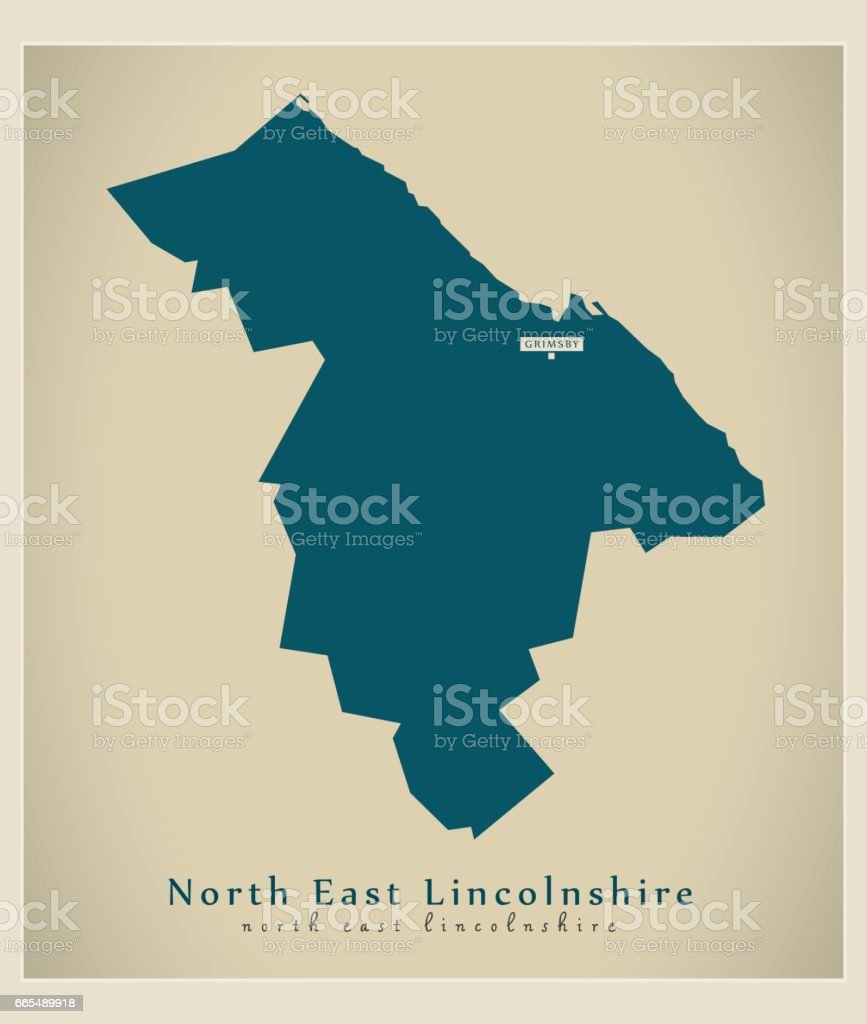 Map Of Uk North East.Modern Map North East Lincolnshire Unitary Authority England Uk