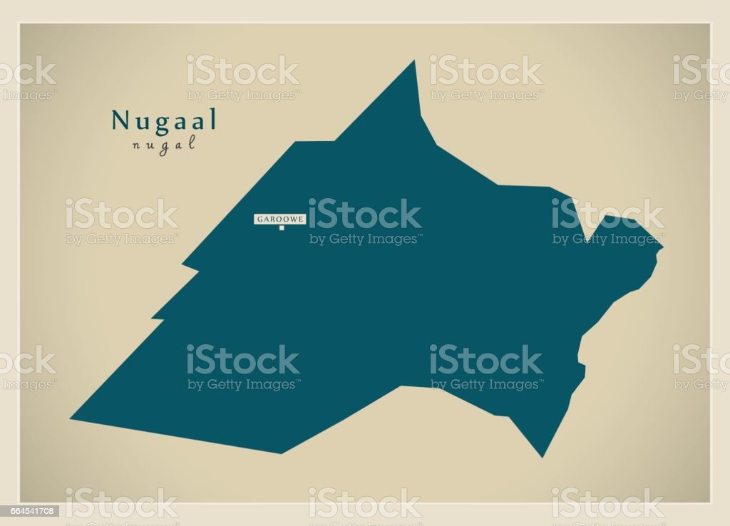 Modern Map - Nugaal SO royalty-free modern map nugaal so stock vector art & more images of cartography