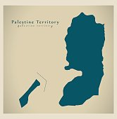 Modern Map - Palestine Territory PS