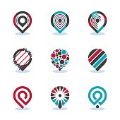 Modern Map Pointer Sign Navigation Pin Symbol Location Vector Icon