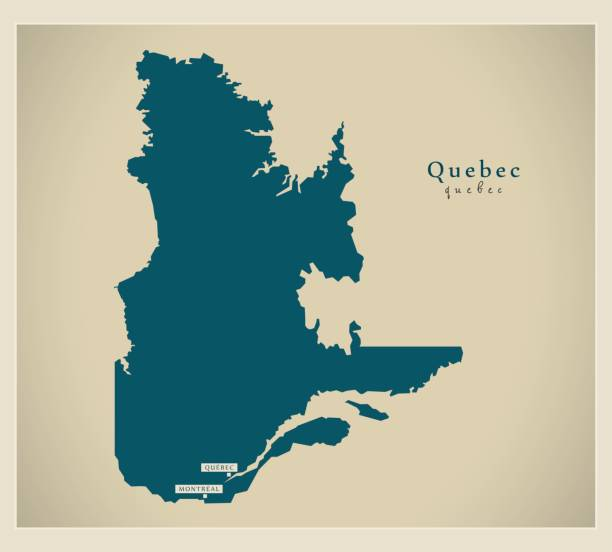 Modern Map - Quebec CA Modern Map - Quebec CA quebec stock illustrations
