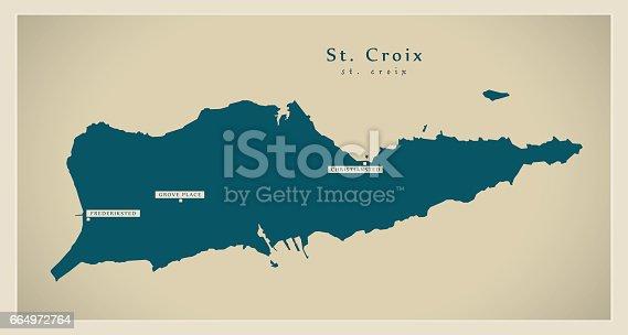 Modern Map - Saint Croix VI