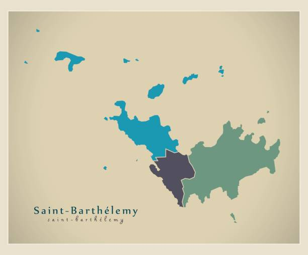 Saint Barthelemy Clip Art Vector Images Illustrations IStock - Saint barthelemy map
