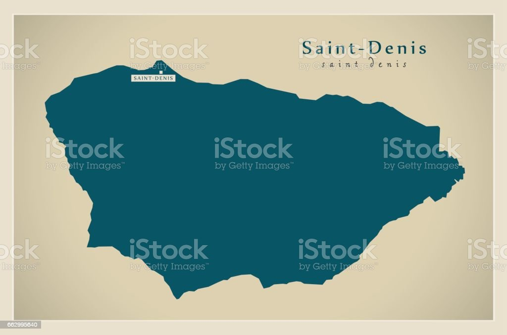 Saint Denis France Map.Modern Map Saintdenis Fr Stock Vector Art More Images Of