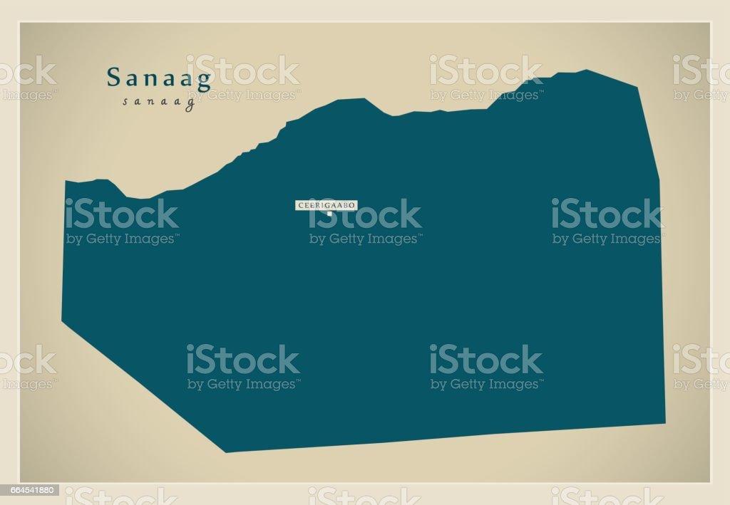 Modern Map - Sanaag SO royalty-free modern map sanaag so stock vector art & more images of cartography