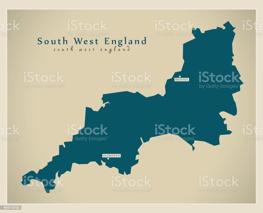 South Of England Map Uk.Modern Map South West England Uk Refreshed Design Stock Vector Art