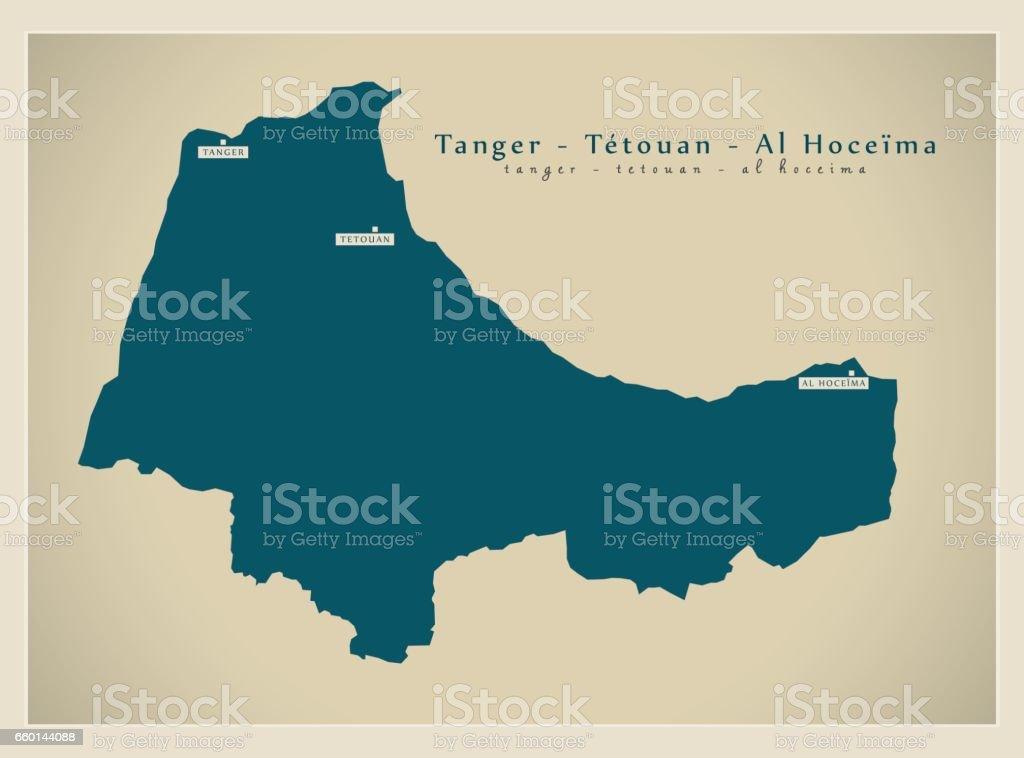 Modern Map Tanger Tetouan Al Hoceima Ma stock vector art 660144088