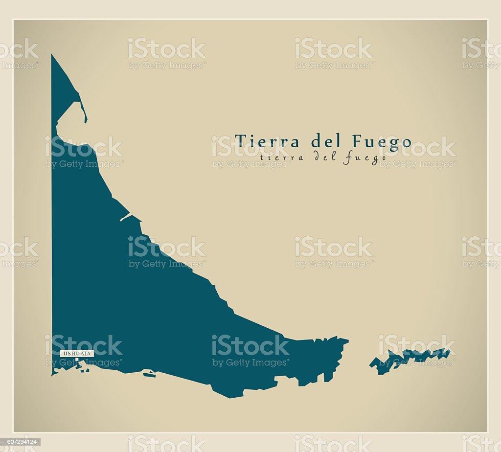 Modern Map - Tierra del Fuego AR