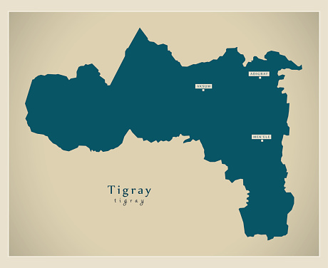 Modern Map - Tigray ET