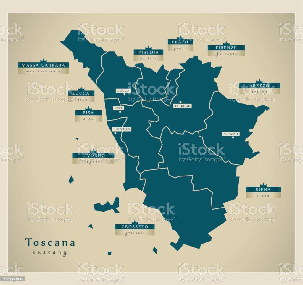 Cartina Giografica Toscana.Mappa Moderna Toscana It Immagini Vettoriali Stock E Altre Immagini Di Carta Geografica Istock