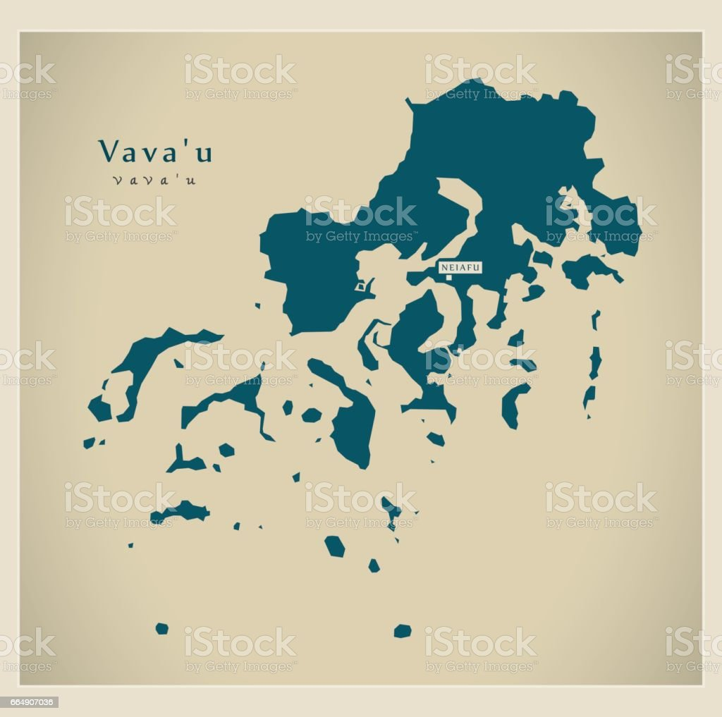 Modern Map Vavau To Stock Vector Art More Images of Cartography