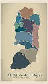Modern Map - West Bank territories colored PS
