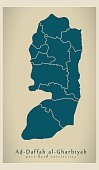 Modern Map - West Bank territories PS