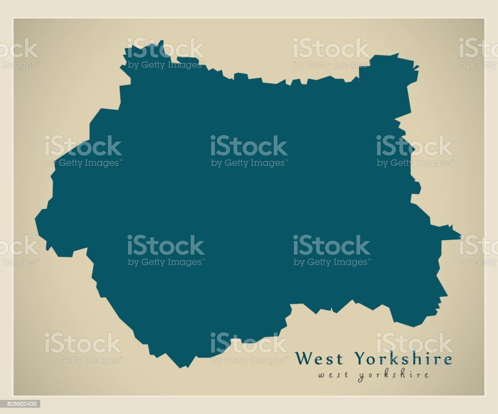 Map Of England Showing Yorkshire.Modern Map West Yorkshire Metropolitan County England Uk Stock Vector Art More Images Of British Culture