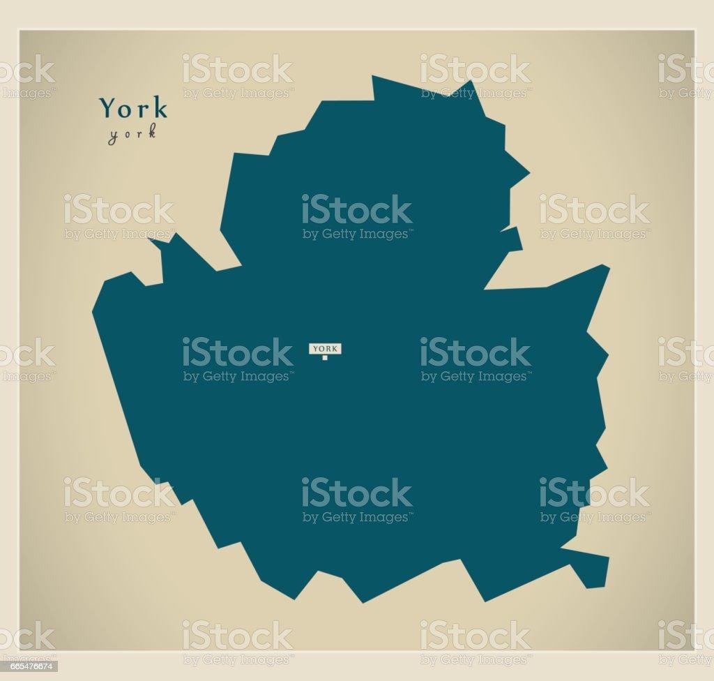 Map Of England Showing York.Modern Map York Unitary Authority England Uk Stock Vector Art More