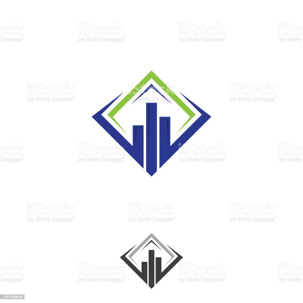 Modern Marketing And Finance Symbol Concept Design On The Square
