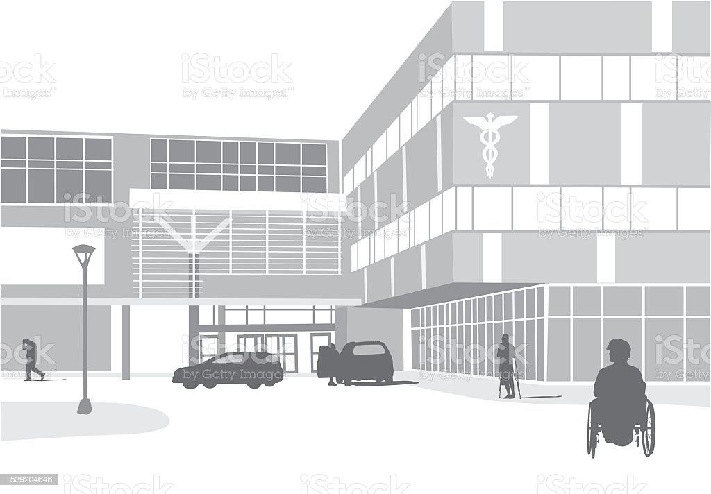 Modern Medical Facilities vector art illustration