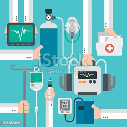 Modern medical therapy flat design.Vector illustration