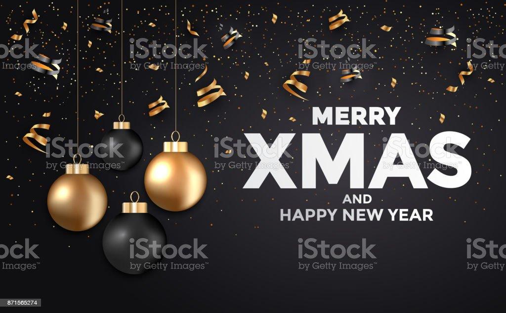 Frohe Weihnachten Und Happy New Year.Moderne Frohe Weihnachten Und Happy New Year 2018 Karte Stock Vektor