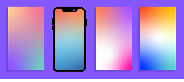 Modern mesh gradient smartphone wallpaper design