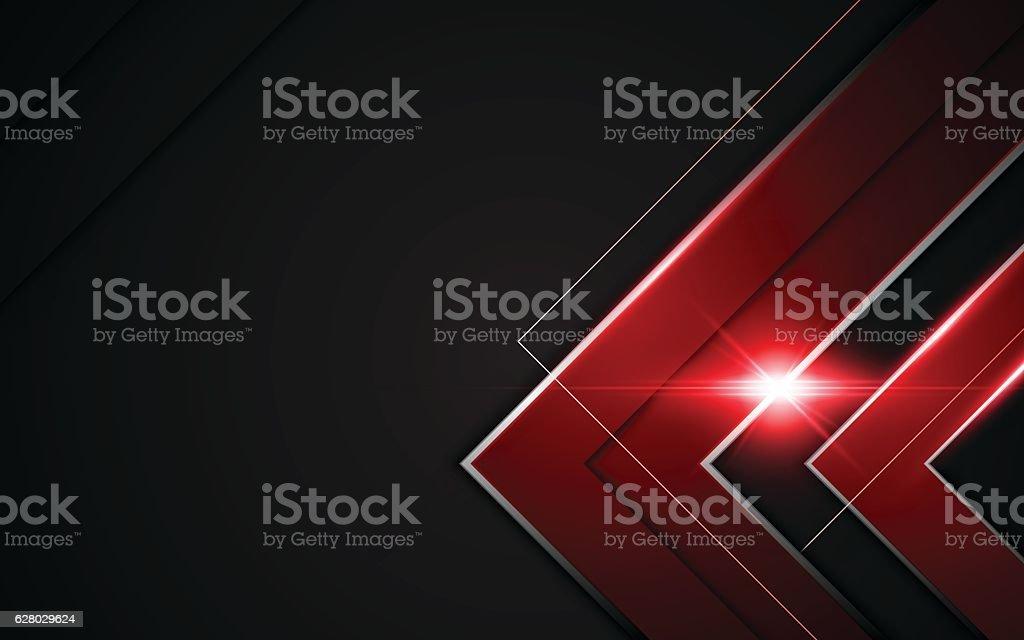 modern metallic red black frame sports gamer tech concept background vector art illustration
