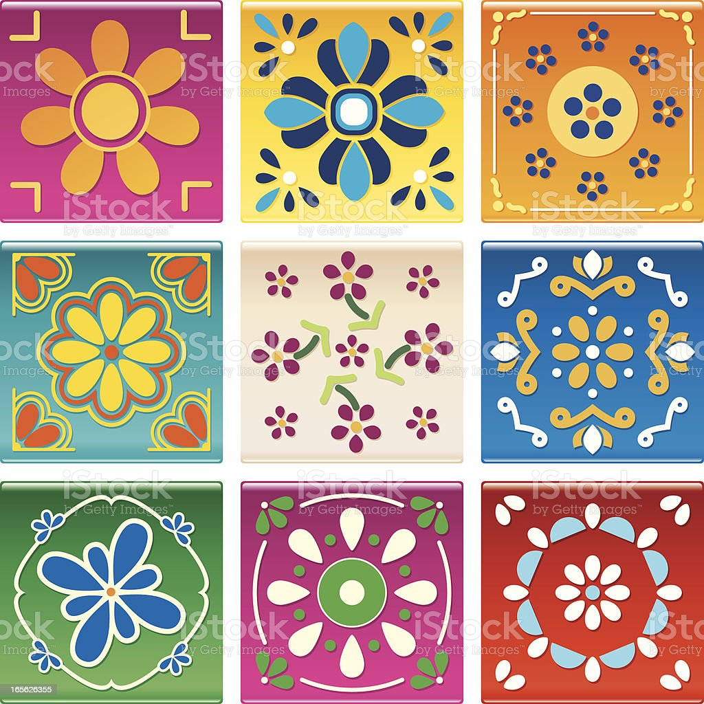 Modern Mexican Tile royalty-free stock vector art