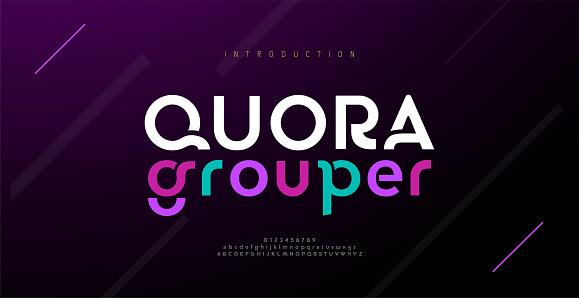 Modern minimal abstract alphabet fonts. Typography technology, electronic, movie, digital, music, future, logo creative font. vector illustration