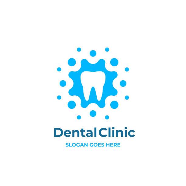 modern minimal dentist logotype design. abstract tooth icon logotype. dental clinic vector sign mark icon. - dentist logos stock illustrations