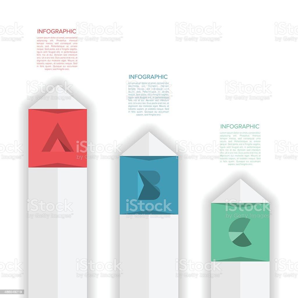 modern minimal design infographic template with alphabet stock